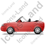 Cabriolet Left Red Icon, PNG/ICO, 64x64