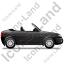 Cabriolet Right Black Icon