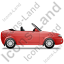 Cabriolet Right Red Icon
