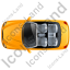 Cabriolet Top Yellow Icon, PNG/ICO, 64x64