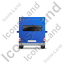 Camper Van Back Blue Icon