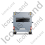 Camper Van Back Grey Icon, PNG/ICO, 64x64
