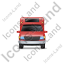 Camper Van Front Red Icon