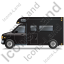 Camper Van Left Black Icon