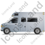 Camper Van Left Grey Icon