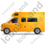 Camper Van Left Yellow Icon