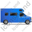 Camper Van Right Blue Icon