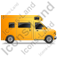 Camper Van Right Yellow Icon, PNG/ICO, 64x64