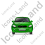 Car Front Green Icon