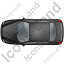 Car Top Black Icon