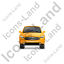 Executive Car Front Yellow Icon, PNG/ICO, 64x64