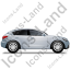 Executive Car Right Grey Icon, PNG/ICO, 64x64