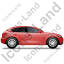 Executive Car Right Red Icon, PNG/ICO, 64x64
