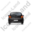 Hatchback Back Black Icon