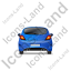 Hatchback Back Blue Icon