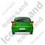 Hatchback Back Green Icon