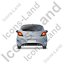 Hatchback Back Grey Icon