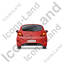 Hatchback Back Red Icon