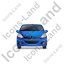 Hatchback Front Blue Icon