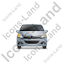 Hatchback Front Grey Icon, PNG/ICO, 64x64