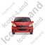 Hatchback Front Red Icon