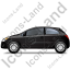 Hatchback Left Black Icon, PNG/ICO, 64x64