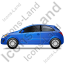 Hatchback Left Blue Icon, PNG/ICO, 64x64