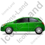 Hatchback Left Green Icon