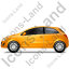 Hatchback Left Yellow Icon