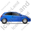 Hatchback Right Blue Icon
