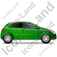 Hatchback Right Green Icon