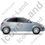 Hatchback Right Grey Icon
