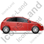 Hatchback Right Red Icon