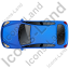 Hatchback Top Blue Icon