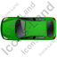 Hatchback Top Green Icon