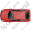 Hatchback Top Red Icon