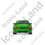 Luxury Car Back Green Icon, PNG/ICO, 64x64