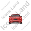 Luxury Car Back Red Icon