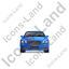 Luxury Car Front Blue Icon, PNG/ICO, 64x64