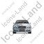 Luxury Car Front Grey Icon, PNG/ICO, 64x64