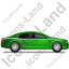 Luxury Car Right Green Icon