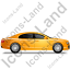 Luxury Car Right Yellow Icon, PNG/ICO, 64x64