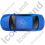 Luxury Car Top Blue Icon, PNG/ICO, 64x64