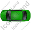 Luxury Car Top Green Icon