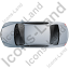 Luxury Car Top Grey Icon, PNG/ICO, 64x64
