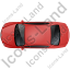 Luxury Car Top Red Icon