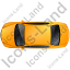 Luxury Car Top Yellow Icon