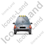 Roadside Assistance Car Back Grey Icon