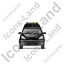 Roadside Assistance Car Front Black Icon, PNG/ICO, 64x64