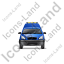 Roadside Assistance Car Front Blue Icon, PNG/ICO, 64x64